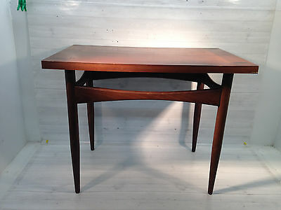 Danish Teak Accent Table Occasional Lamp Parlor End SideStand Mid Century Modern