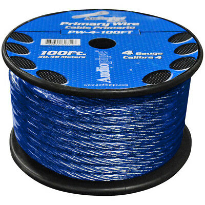 Nippon  POWER WIRE AUDIOPIPE 4GA 100' BLUE PW4100BL
