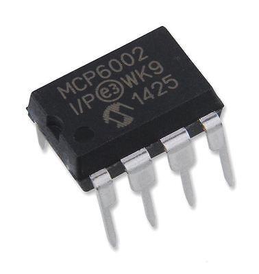 5PCS Microchip MCP6002-I/P MCP6002 Dual 1 MHz Operational Amplifier DIP-8 New IC