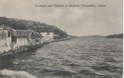 Dockyard and Entrance to Harbour,Trincomalie,Ceylon,Plate Ltd,not Posted,VF+.