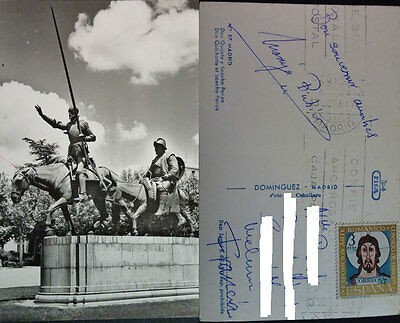Antigua Postal Madrid 1961 Don Quijote Y Sancho Panza  Cc3810