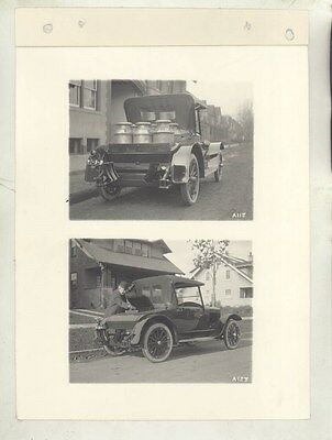 1920 Essex Utility Roadster Milk Cans ORIGINAL Linen Back Factory Photo ww9196