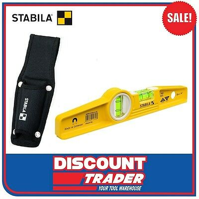 "Stabila Spirit Level + Belt Pouch 81S/25 + H 25cm (10"") - 02501"