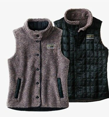 Patagonia Women's Recycled Down Reversible  Fleece Vest Size Small
