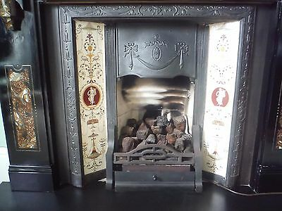 Original Victorian Fire Insert  in Fine Condtion - Cast Iron and Tiles