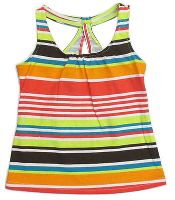 Sprockets Toddler Girls Tank Top Graphic Stripes Tee Shirt t Cotton 2t 3t 4t nwt