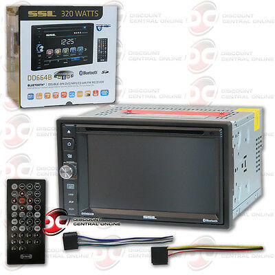 "Soundstorm Dd664B Car Audio Double Din 6.2"" Lcd Dvd Bluetooth Stereo"