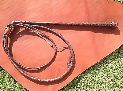 Stock whip, 6'x 12plait kangaroo hide 'Will Dargan whips' stockwhip