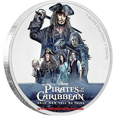 Pirates Of The Caribbean-Disney 1oz Proof Silver Coin Niue 2017