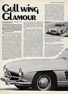 9 LOT Mercedes-Benz 300SL/SLR/Gullwing, Multi-Page Car Magazine Articles