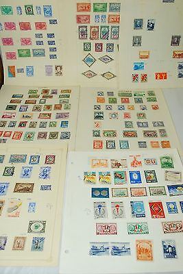 Large Lot Of Stamps Collection Of Preu Nicaragua And Guatemala On Album Pages