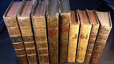 Lot of 9 Very Old Rare Historical Books - 1700s