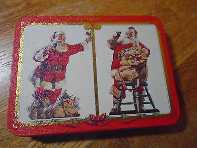 2 Decks Of Coca-Cola, Nostalgia Playing Cards, Christmas 1994, In Santa Tin, New