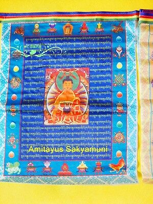 Wholesale 200 Roll Colorful Buddhist Prayer Flag 10 Pieces Figure Buddha Sutras
