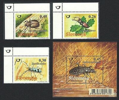 Slovenia Beetles Insects 3v+MS SG#859/MS862