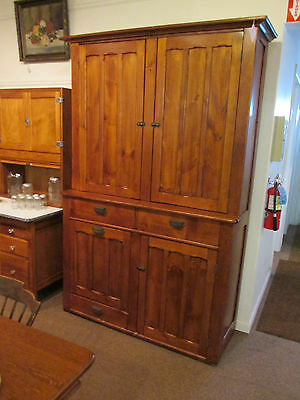 S25 antique pine kitchen storage cupboard cabinet early american potato bin