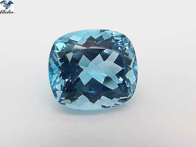 1x Topas - Skyblue Cushion facettiert 22,7x20,8x13,7mm 59,56ct. (0948C)