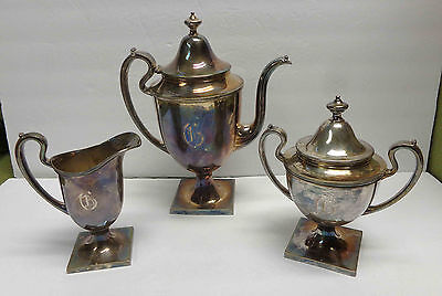 Vintage Sheffield Silverplate Coffee Pot, Pitcher and Lidded Server!