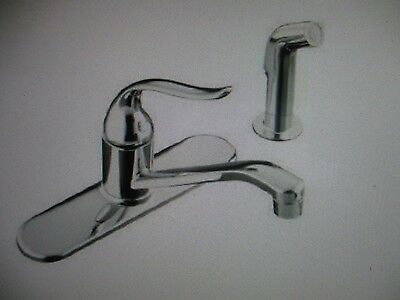 KOHLER K-P15172-F-CP Coralais Single Control Sink Faucet Chrome  W/Hose Spray