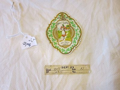 Vintage Early 1900's Irish Pride Of Ulster NOS Pure Linen Material 12 YD's Rose