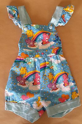 Babies and girls overalls, handmade, Vintage style, Care Bears print