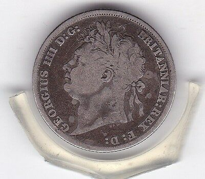 1824   King   George  IV  Sterling  Silver  Shilling  British Coin
