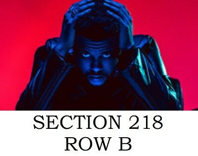 2 Tickets The Weeknd at Bell Centre, Montreal Tue, May 30, 2017, 7:30 pm EDT