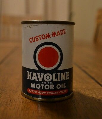 Havoline Custom Made Motor Oil Can Bank The Texas Company Made in USA