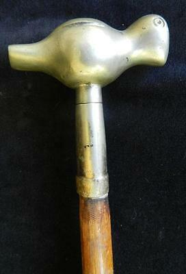 Very Rare Antique Bird Topped Walking Stick/Opium Pipe