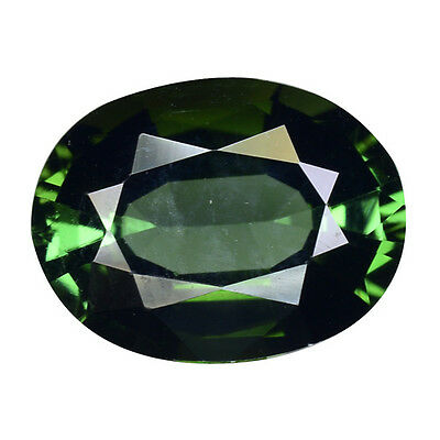 3.360Cts Extraordinary Luster Green Natural Tourmaline Oval Loose Gemstones