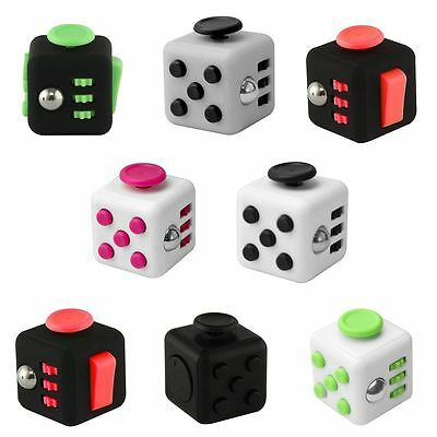 Magic Fidget Cube Anxiety Stress Relief Focus 6-side Dice Gift For Adults Child