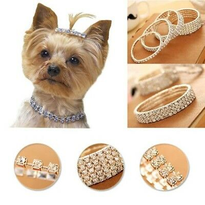 Bling Chien Chat Bijoux Strass Collier D'animal Domestique Cristal Diamant