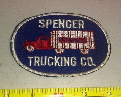 Vintage Spencer Trucking Co Livestock Work Shirt Patch Iowa? Rare