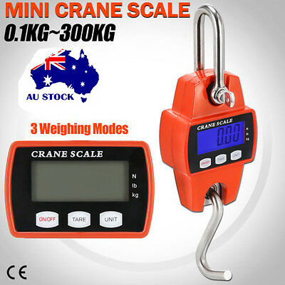 Portable Industrial Mini Digital LCD Crane Scale Heavy 300kg Electronic Hook AU