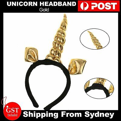 Gold Unicorn Headband Fancy Dress Festival Fun Accessory Adults and Kids Party