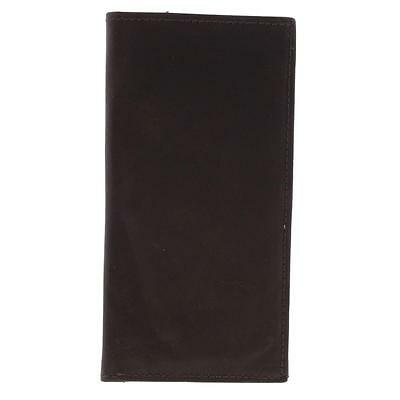 Marshal 1390 Mens Brown Leather Flap Checkbook O/S BHFO