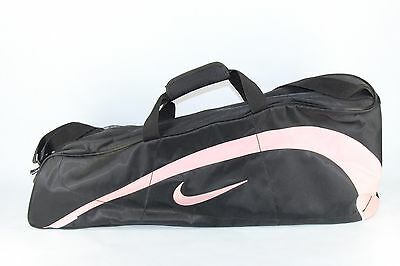 Nike Tennis Racquet Bag - 2 Sided Storage - Black With Pink Accents