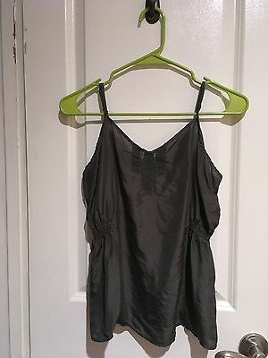 Old Navy Silk Camisole Cami Women's Large Steely Black Freshly Washed
