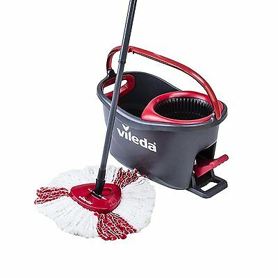 Vileda Easy Wring Clean Turbo Microfibre Mop and Bucket set Power Spin Wringer