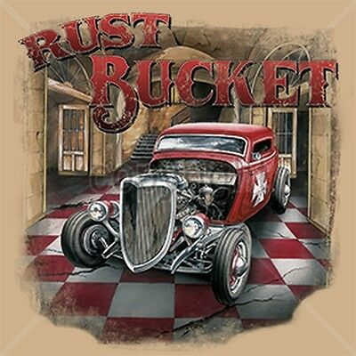 Rust Bucket Vintage Hot Rod T Shirt You Choose Style, Size, Color 10585
