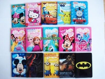 Frozen Mickey Mouse Spiderman Superman Kids Passport Cover Case Protector Holder