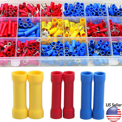 100 Pc Wire Terminal Kit Spade Butt Ring electrical Connector splice 22-10 gauge