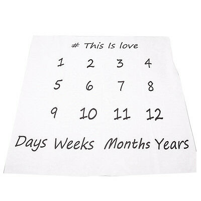 Creative Swaddle Newborn Blanket Monthly Milestone Baby Photography Props ( O0N7