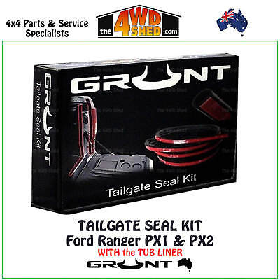 TAILGATE RUBBER SEAL KIT FORD RANGER PX1 PX2 MK with Tub Liner TAIL GATE