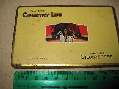 Tobacco tin Players Country Life cigarettes  vintage