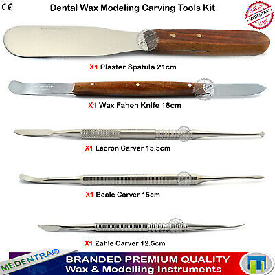 MEDENTRA® Laboratory Kit Wax Knives Dental Knife Carving Wax Carvers for Mixing