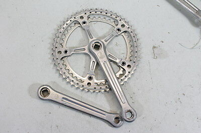 Campagnolo Record guarnitura  bici corsa vintage crankset racing bike