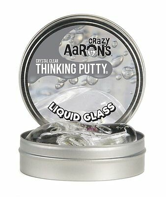 """Crazy Aaron's Thinking Putty Crystal Clear - Liquid Glass Large 4""""/10cm Tin"""