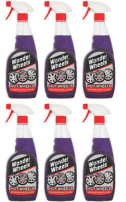 6x Wonder Wheels Hot Wheels Alloy All Wheel Cleaner 500ml