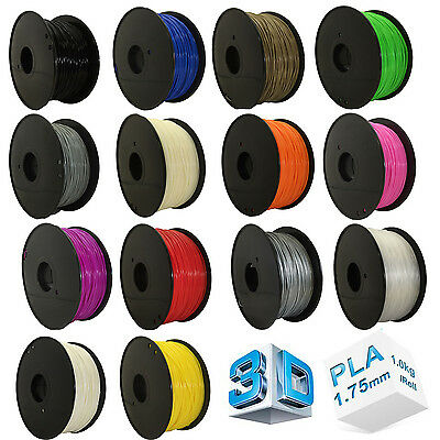 3D Printer Filament PLA 1Kg 1.75MM Roll For Makerbot Huxley Leapfrog RepRap